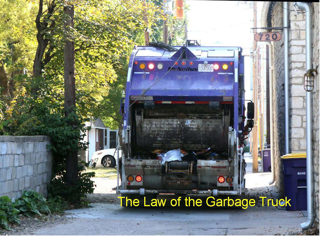 Extraordinary Bob The-Law of The Garbage Truck Post